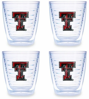 Texas Tech Set of FOUR 12 oz. Tervis Tumblers