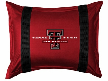 Texas Tech SIDELINES Jersey Material Pillow Sham