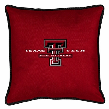 Texas Tech SIDELINES Jersey Material Toss Pillow