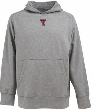 Texas Tech Mens Signature Hooded Sweatshirt (Color: Gray)