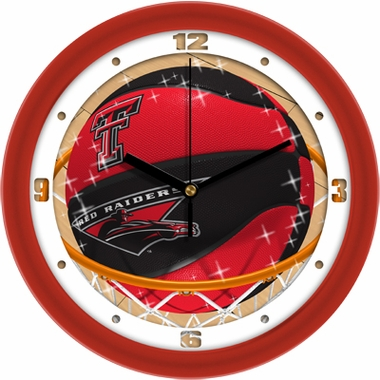 Texas Tech Slam Dunk Wall Clock