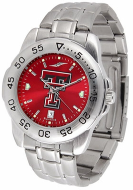 Texas Tech Sport Anonized Men's Steel Band Watch