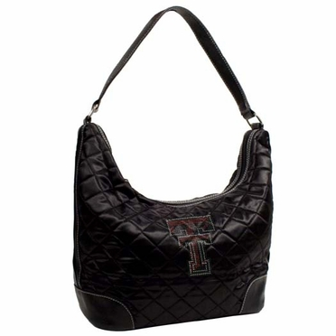 Texas Tech Sport Noir Quilted Hobo