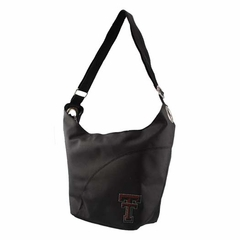 Texas Tech Sport Noir Sheen Hobo Purse
