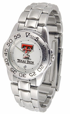 Texas Tech Sport Women's Steel Band Watch