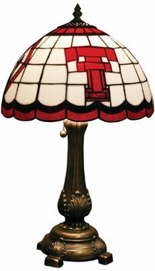 Texas Tech Stained Glass Table Lamp