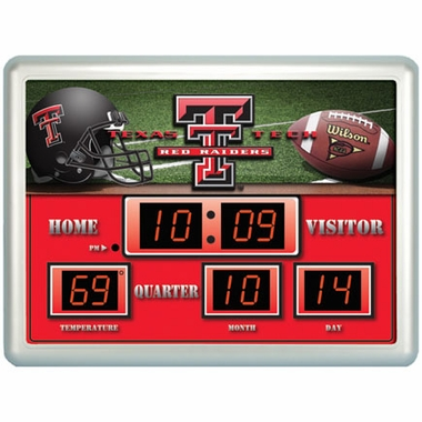Texas Tech Time / Date / Temp. Scoreboard