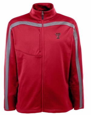 Texas Tech Mens Viper Full Zip Performance Jacket (Team Color: Red)