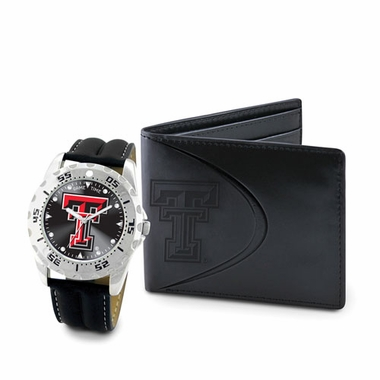 Texas Tech Watch and Wallet Gift Set