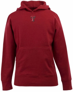 Texas Tech YOUTH Boys Signature Hooded Sweatshirt (Team Color: Red)
