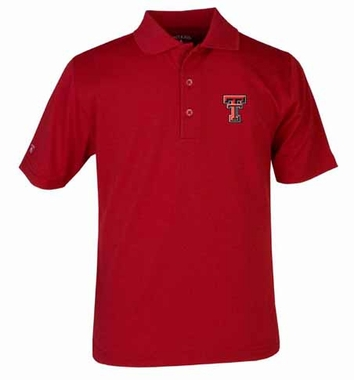 Texas Tech YOUTH Unisex Pique Polo Shirt (Team Color: Red)