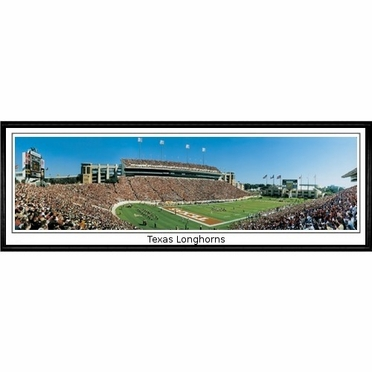 Texas Texas Longhorns Framed Panoramic Print
