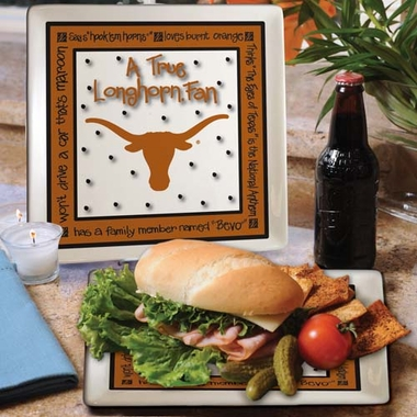Texas True Fan Square Plate