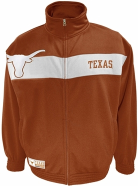 Texas Victory March Full Zip Colorblocked Track Jacket