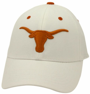Texas White Premium FlexFit Baseball Hat