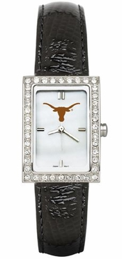 Texas Women's Black Leather Strap Allure Watch