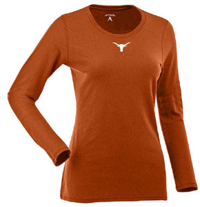 Texas Womens Relax Long Sleeve Tee (Team Color: Orange) - Large