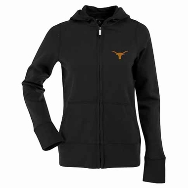 Texas Womens Zip Front Hoody Sweatshirt (Alternate Color: Black)