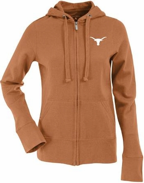 Texas Womens Zip Front Hoody Sweatshirt (Team Color: Orange)