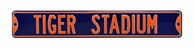 Tiger Stadium Street Sign