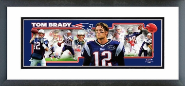 Tom Brady 2012 Framed / Double Matted Photoramic -