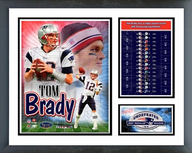 Tom Brady - 50 Touchdowns in a single season Framed Milestones & Memories