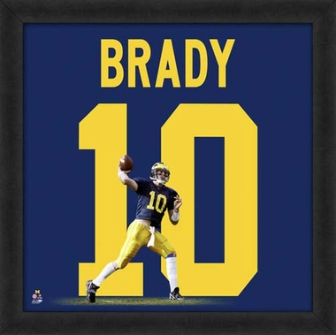 "Tom Brady, Michigan Wolverines 20"" x 20"""