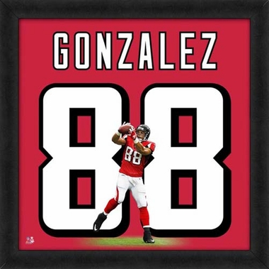 "Tony Gonzalez, Falcons UNIFRAME 20"" x 20"""