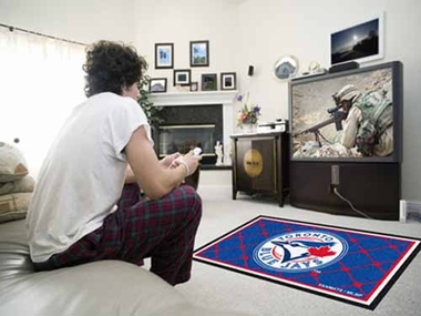 Toronto Blue Jays 4 Foot x 6 Foot Rug