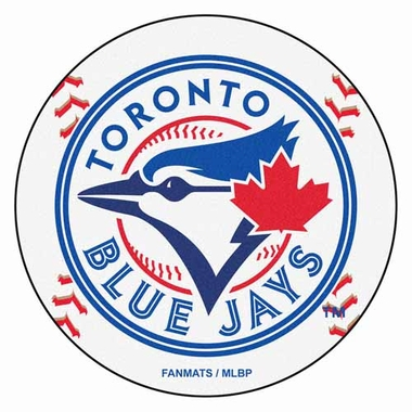 Toronto Blue Jays 27 Inch Baseball Shaped Rug