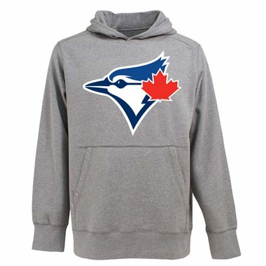 Toronto Blue Jays Big Logo Mens Signature Hooded Sweatshirt (Color: Gray)