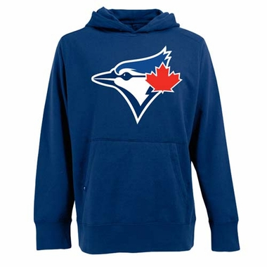 Toronto Blue Jays Big Logo Mens Signature Hooded Sweatshirt (Team Color: Royal)