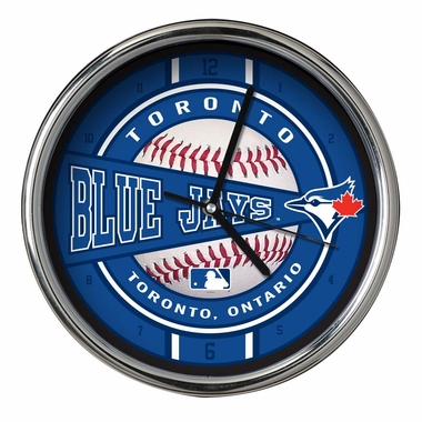 Toronto Blue Jays Chrome Clock