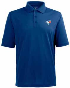 Toronto Blue Jays Mens Pique Xtra Lite Polo Shirt (Team Color: Royal) - Large