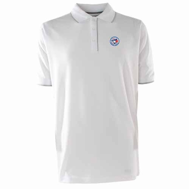 Toronto Blue Jays Mens Elite Polo Shirt (Color: White)