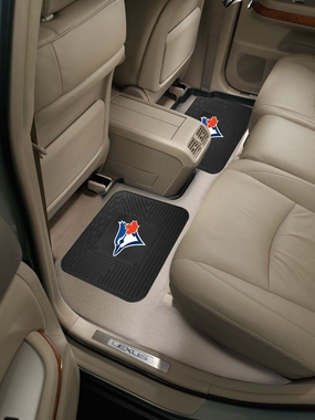 Toronto Blue Jays SET OF 2 Heavy Duty Vinyl Rear Car Mats