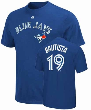 Toronto Blue Jays Jose Bautista Name and Number T-Shirt