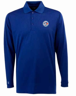 Toronto Blue Jays Mens Long Sleeve Polo Shirt (Team Color: Royal)