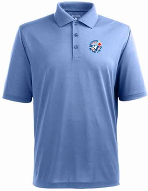 Toronto Blue Jays Mens Pique Xtra Lite Polo Shirt (Cooperstown) (Color: Aqua)