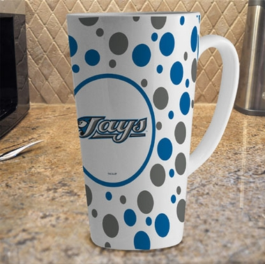 Toronto Blue Jays Polkadot 16 oz. Ceramic Latte Mug