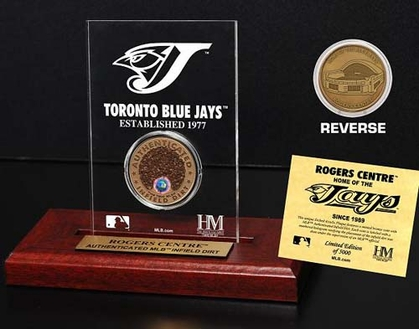 Toronto Blue Jays Roger Centre Infield Dirt Coin Etched Acrylic