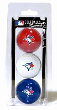 Toronto Blue Jays Set of 3 Multicolor Golf Balls