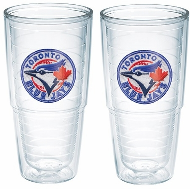"Toronto Blue Jays Set of TWO 24 oz. ""Big T"" Tervis Tumblers"