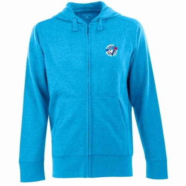 Toronto Blue Jays Mens Signature Full Zip Hooded Sweatshirt (Cooperstown) (Team Color: Aqua)