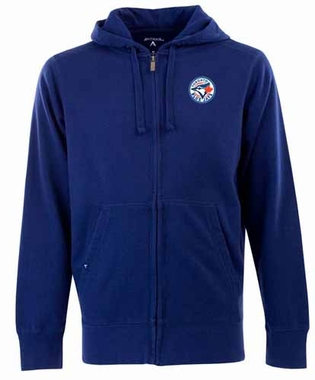 Toronto Blue Jays Mens Signature Full Zip Hooded Sweatshirt (Team Color: Royal)