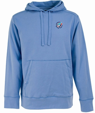 Toronto Blue Jays Mens Signature Hooded Sweatshirt (Cooperstown) (Team Color: Aqua)