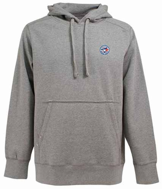 Toronto Blue Jays Mens Signature Hooded Sweatshirt (Color: Gray)