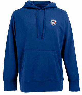 Toronto Blue Jays Mens Signature Hooded Sweatshirt (Team Color: Royal)