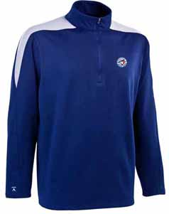 Toronto Blue Jays Mens Succeed 1/4 Zip Performance Pullover (Team Color: Royal) - Large