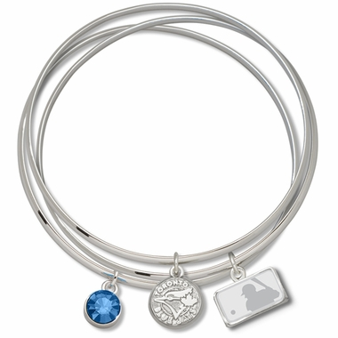 Toronto Blue Jays Triple Bangle Bracelet